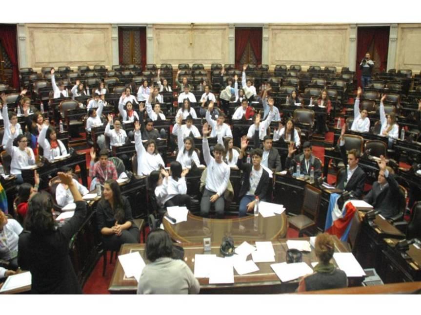 """Estudiantes secundarios de todo el país """"aprobaron"""" una ley contra el bullying en el Congreso Nacional – Fuente: Luciana Proietti – Diario LaNacion"""