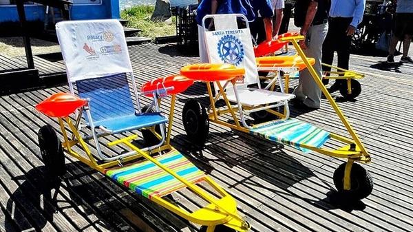 Los internos hicieron las sillas de ruedas en el marco de los talleres de oficios que realizan en el penal